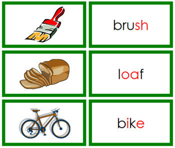 Green: Phonogram Words and Picture Cards (Set 1)