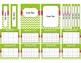 Green & Pink Chevron Teacher Binder 2016-2017 Editable Binder Covers & Calendars