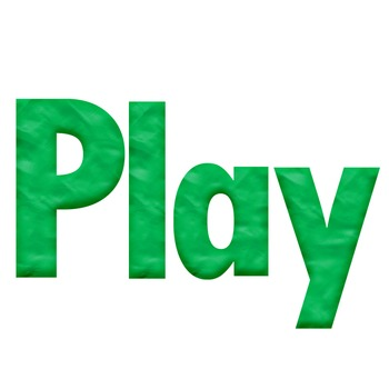 Green Playdough Look Alphabet Clip Art for your bulletin board and more