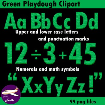 Green Playdough Look Alphabet Clip Art for your bulletin b