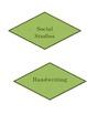 Green Poka Dot Subject Labels