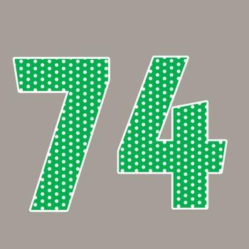 Green Polka Dot Alphabet Clip Art + Numerals, Punctuation and Math Symbols