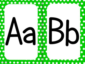 Green Polka Dot Alphabet (large)