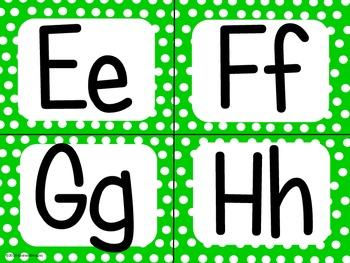 Green Polka Dot Alphabet (small)