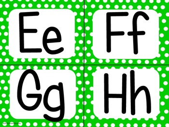 Green Polka Dot Alphabet (small)
