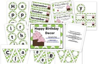 Green Polka-Dot Birthday Tags