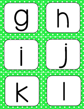 Green Polka-Dot Letter and Numbers