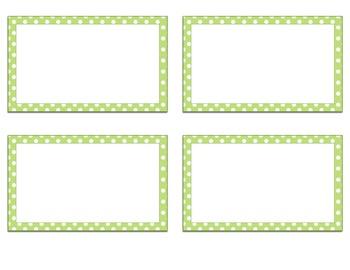 Green Polka Dot Library Labels