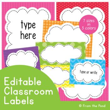 Editable Labels Classroom Labels {Editable Classroom Decor Labels}