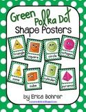 Green Polka Dot Shape Posters
