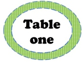 Green Polka Dot Table Signs