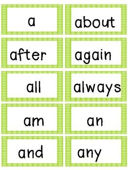 Green Polka Dot Word Wall Bundle Pack