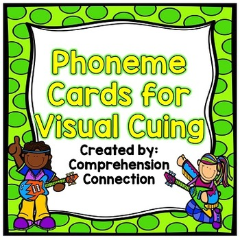 Phoneme Posters: Green Polka Dots