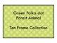 Green Polkadot Forest Theme - 10 Ten Frame Collection