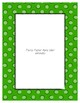 Green Poster Frames * Create Your Own Dream Classroom / Daycare *
