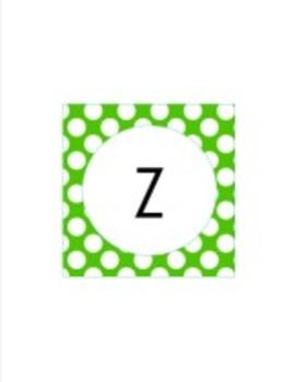 Green Primary Polka Dot Collection Classroom Decor