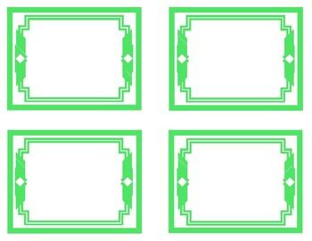 Green Printable Classroom Decor
