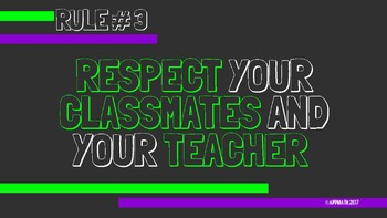 Green & Purple Classroom Rules