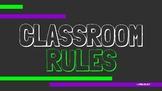 Green & Purple Classroom Rules