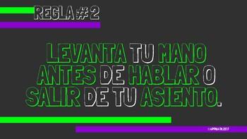 Green & Purple Classroom Rules in Spanish