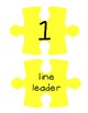 Yellow Puzzle Piece Line Up Visual 1-30