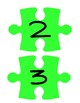 Green Puzzle Piece Line Up Visual 1-30