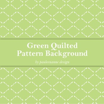 Green Quilted Pattern Background