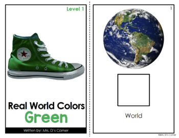 Green - Real Life Colors Adapted Book Bundle   Real Picture Color Books