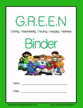 Green {Recycle} Binder Cover