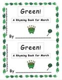 Green Saint Patrick's Day Emergent Reader
