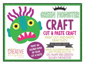 Green Scary Monster Craft
