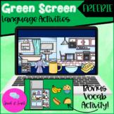 Green Screen Speech - Language Activities FREEBIE