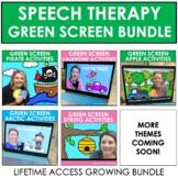 Green Screen Speech Therapy Activities - GROWING BUNDLE