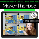Green Screen Virtual Background - Make the Bed - Sequencing - Speech Therapy