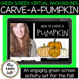 Green Screen Virtual Backgrounds for Distance Learning: how to carve-a-pumpkin