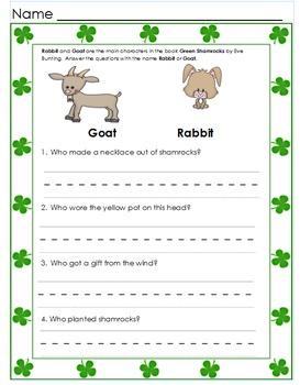 Green Shamrocks Book Study