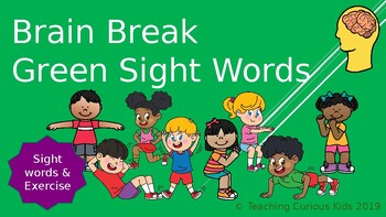 Green Sight Word Brain Break