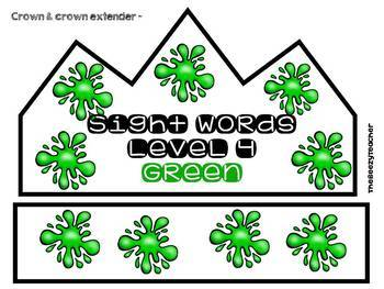Green Sight Words Level 4