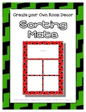 Green Sorting Mat Frames * Create Your Own Dream Classroom