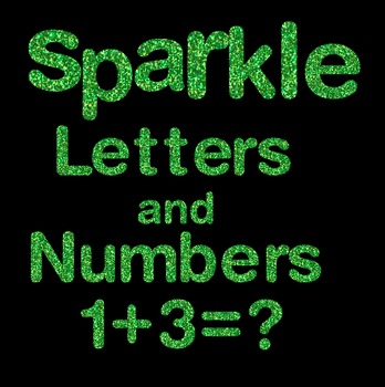 Green Sparkle Letters