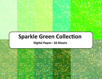 Green Sparkle Paper