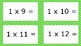 Green Spotty Times Tables Flash Cards