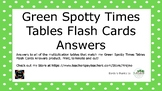 Green Spotty Times Tables Flash Cards Answers