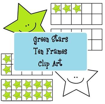 Green Stars Ten Frames - Stelline verdi analogiche