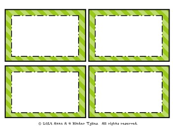 Green Stripe Labels by Kinder Tykes