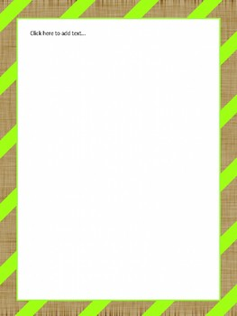 Green Stripe and Burlap Classroom Decor Theme Pack (Editable!)