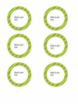 Green Stripe and Burlap Classroom Decor Theme Pack (Editable!)
