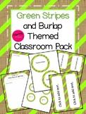 Classroom Decor: Green and Burlap
