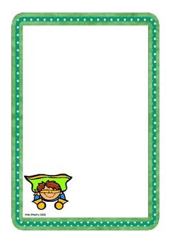 Green Superhero Worksheets