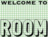 Green Teacher Room Sign